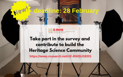 E-RIHS survey for Heritage Science Community: New deadline!
